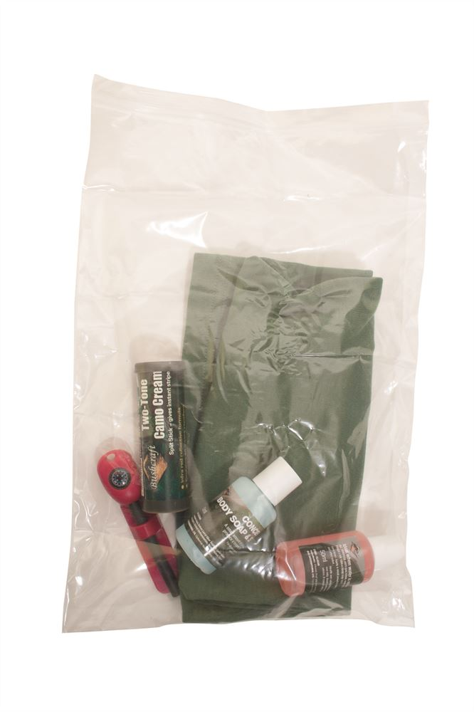 10 Pack Bushcraft BCB Snapseal Bags Transparent