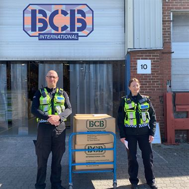 British Transport Police picking up PPE from BCB
